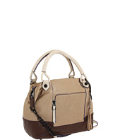 Olivia Harris by Joy Gryson - Color Blocked Zip Pocket Trapezoid Satchel