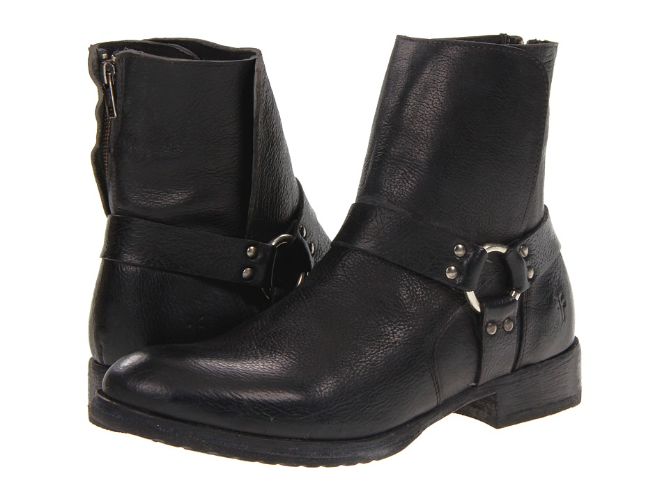 Frye - Dean Harness (Black Stone Antiqued) Men