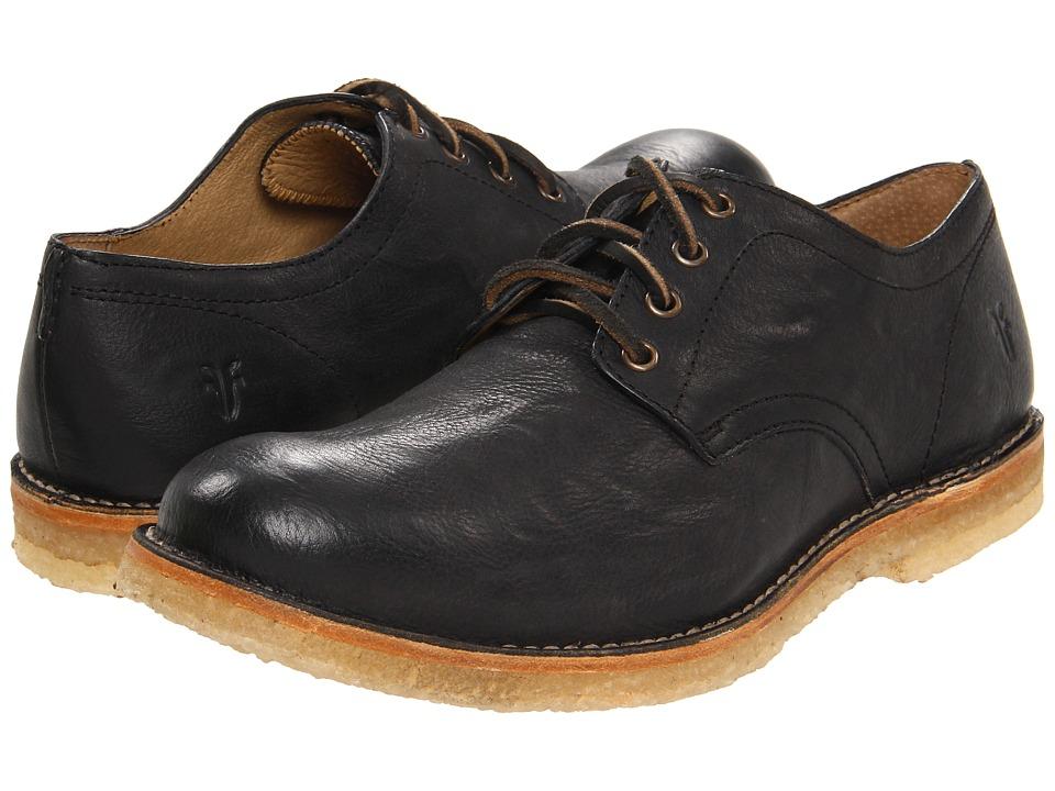 Frye - Hudson Oxford Black Tumbled Full Grain Mens Lace up casual Shoes $258.00 AT vintagedancer.com