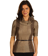 Jones New York - Petite Elbow Sleeve Belted Cowl Neck Sweater