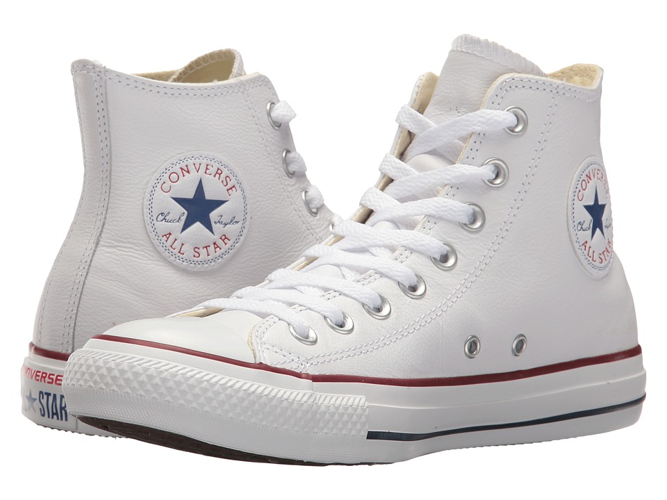 Converse Chuck Taylor All Star Leather Hi White Leather Classic Shoes