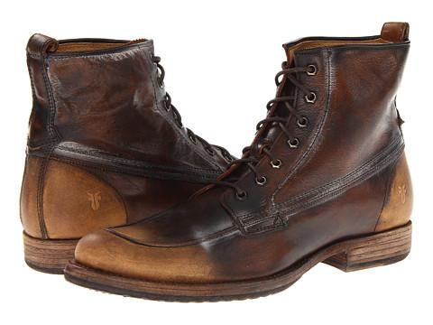 Frye - Phillip Work Boot (Dark Brown Vintage Brush Off) - Footwear