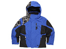 Spyder Kids - Boy's Challenger Jacket (Big Kids) (Just Blue/Black/White) - Apparel