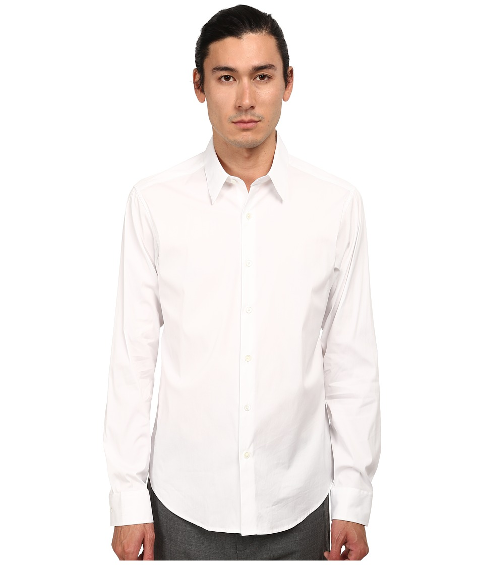 Theory Sylvain White Mens Long Sleeve Button Up