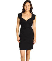 Nicole Miller - Satin Crepe Cap Sleeve Dress