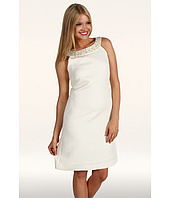 Tahari by ASL - Rex Sleeveless Embellished Neckline Dress
