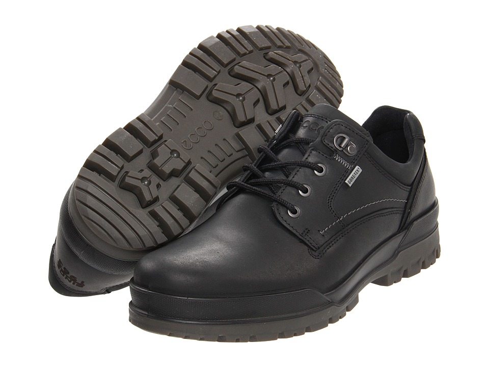 ECCO Track 6 GTX Plain Toe Tie (Black/Black) Men