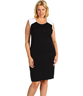 Jones New York - Plus Size Contrast Shoulder Sheath Dress
