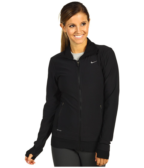 Nike - Poly Legend Jacket (Black/Black/White) - Apparel