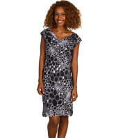 Jones New York - Printed Drape Neck Dress