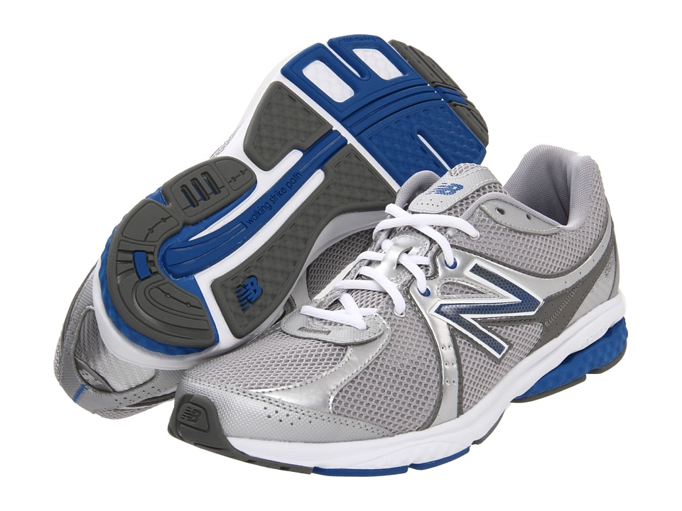 New Balance MW665 (Silver/Blue) Men's Walking Shoes