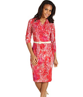 Jones New York - Animal Print 3/4 Sleeve Wrap Dress