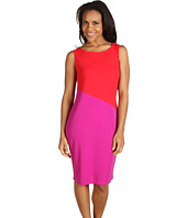 Jones New York - Colorblock Jewel Neck Dress
