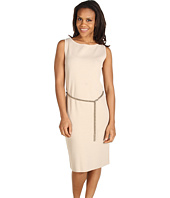 Jones New York - Chain Belt Jewel Neck Sheath Dress
