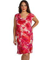 Jones New York - Plus Size Cap Sleeve Cowl Bias Dress