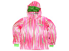 Spyder Kids - Girl's Mynx Jacket (Big Kids) (Diva Pink Vision Speedlines/Green Flash) - Apparel