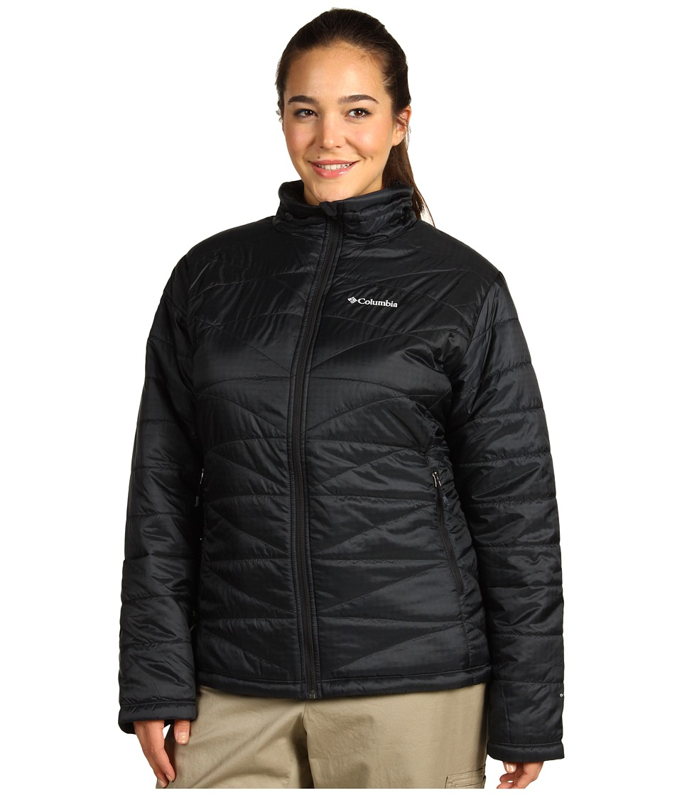 Columbia - Plus Size Mighty Litetm III Jacket (Black) Wom...