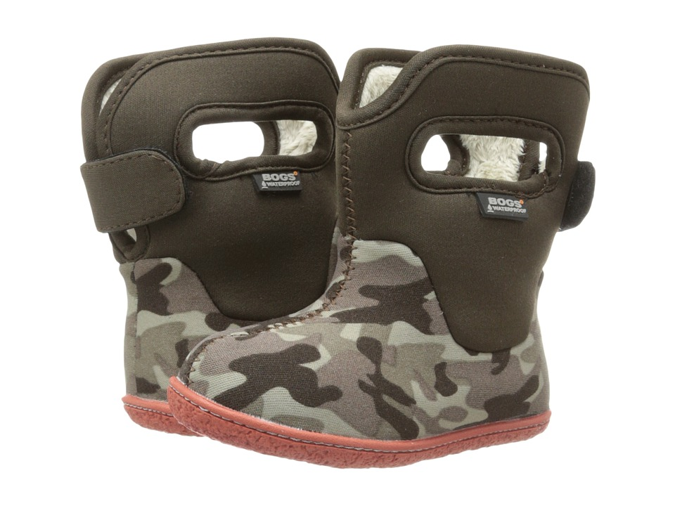 Bogs Kids Classic Camo Toddler Olive Camo Kids Shoes