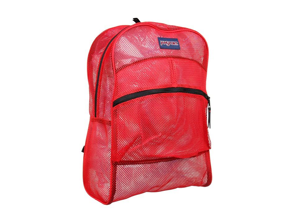 JanSport Mesh Pack High Risk Red Backpack Bags