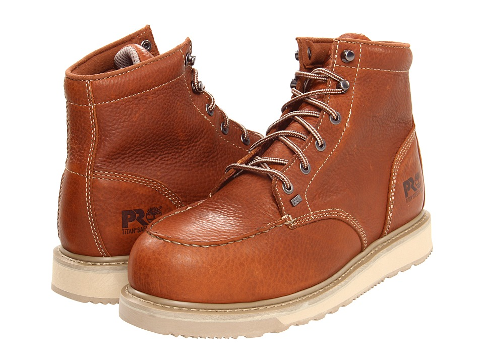 Timberland PRO - Barstow Wedge Alloy Safety Toe (Rust) Mens Work Boots