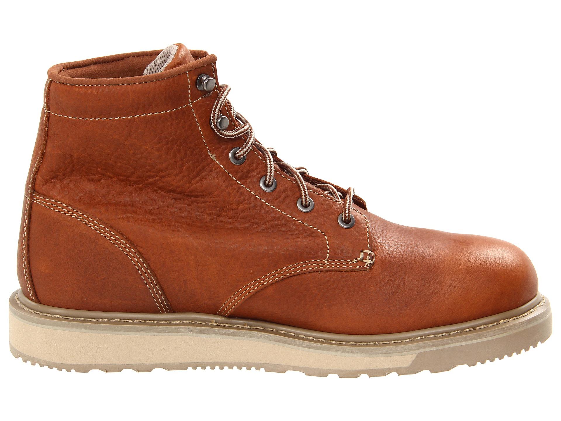 timberland pro barstow wedge plain soft toe rust shipped