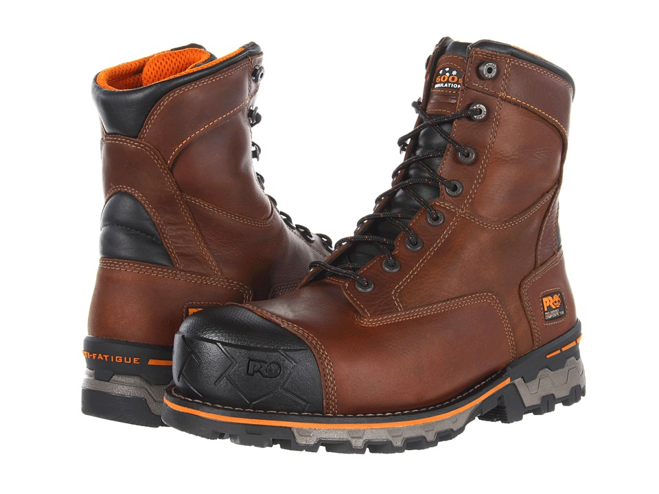 Timberland PRO - Boondock WP Insulated Comp Toe (Brown) Mens Work Boots