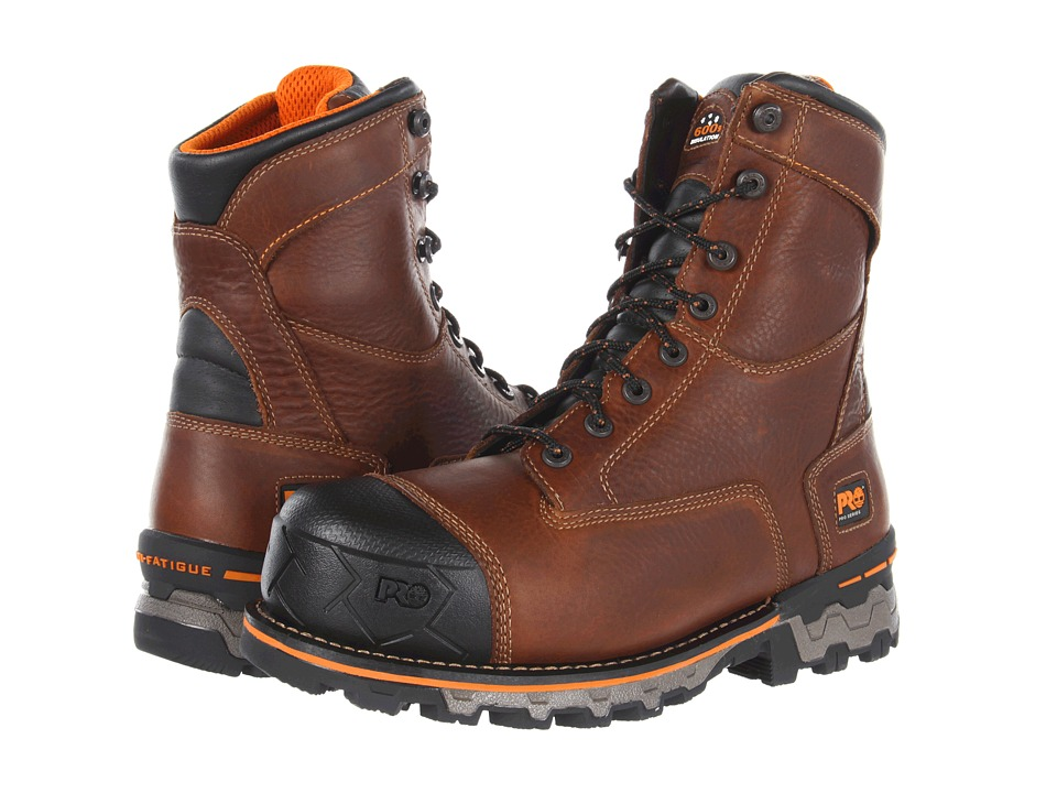 Timberland PRO - Boondock WP Insulated Soft Toe (Brown) Mens Work Boots