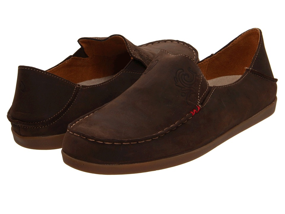 OluKai Nohea Nubuck (Dark Java/Tan) Slip-On Shoes