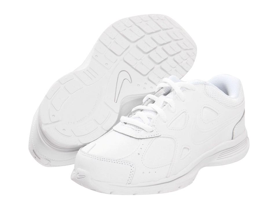 Nike Kids Advantage Runner 2 Leather Little Kid/Big Kid White/White Kids Shoes