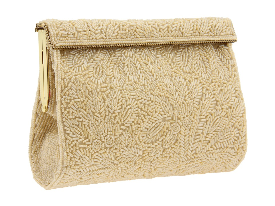 1950s Handbags, Purses, and Evening Bag Styles Nina - Meadow Champagne Handbags $125.00 AT vintagedancer.com