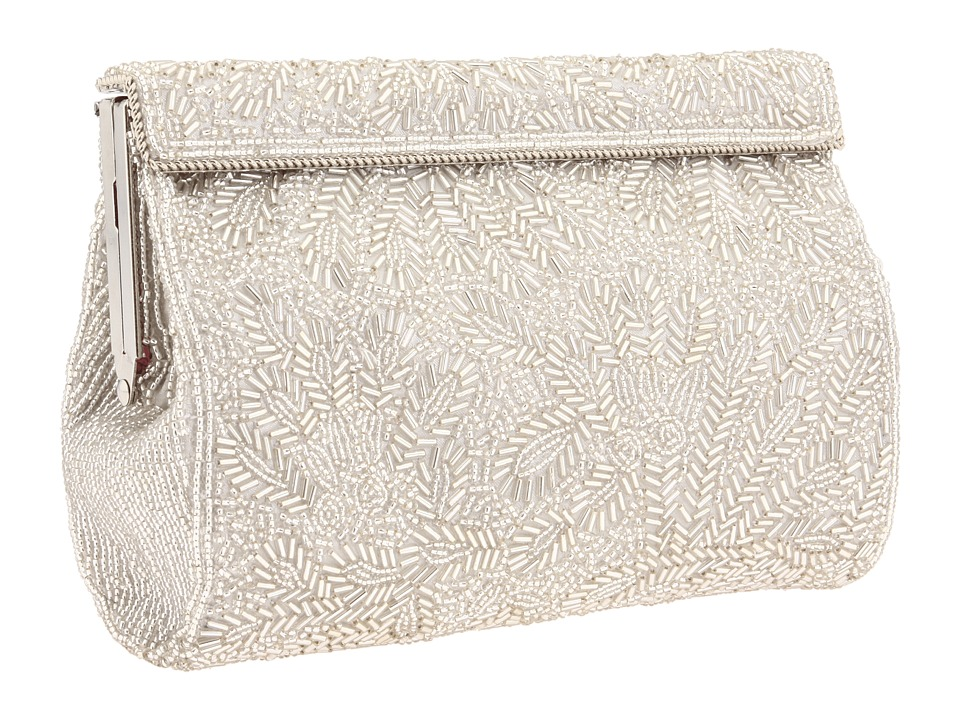 1950s Handbags, Purses, and Evening Bag Styles Nina - Meadow Silver Handbags $125.00 AT vintagedancer.com