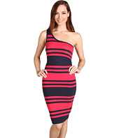 French Connection - Jag Stripe One-Shoulder Dress