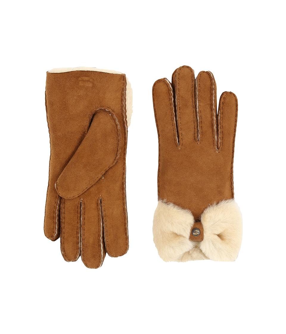 UGG Classic Bow Shorty (Chestnut) Dress Gloves