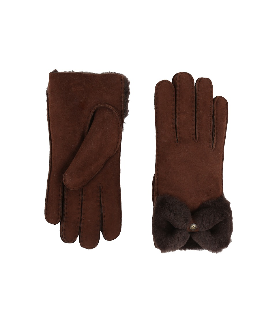 UGG Classic Bow Shorty (Chocolate) Dress Gloves