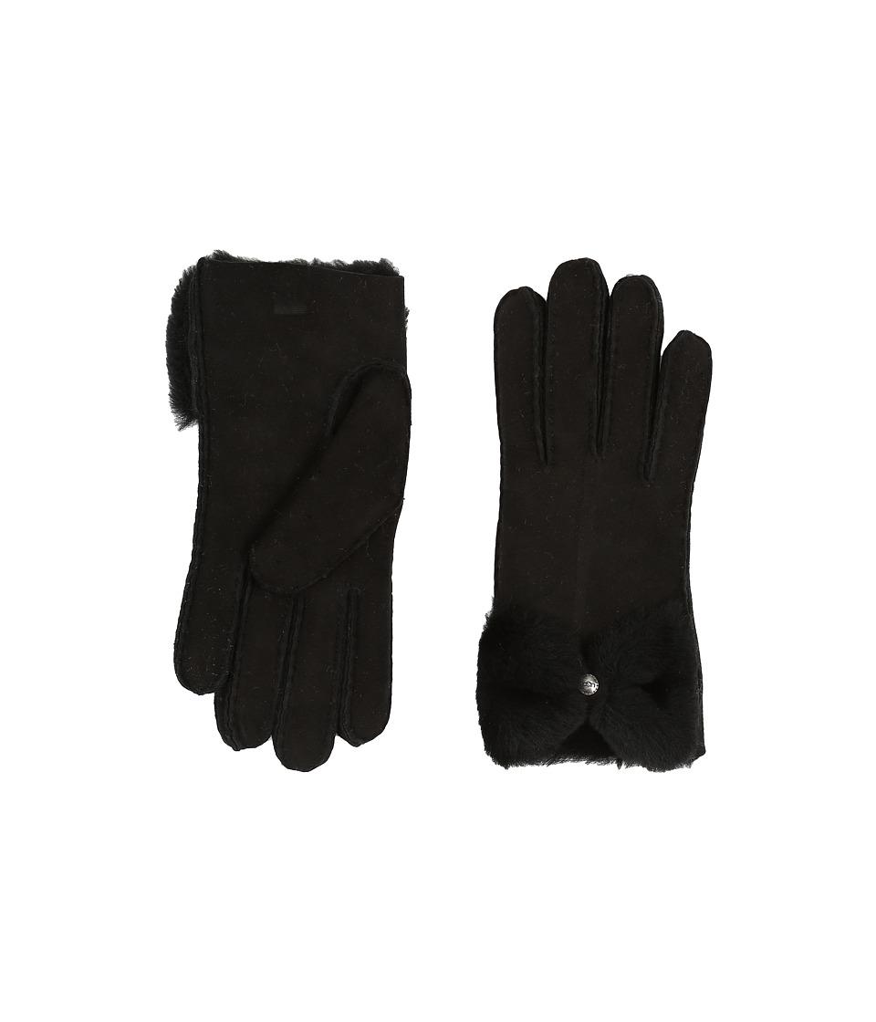 UGG Classic Bow Shorty (Black) Dress Gloves