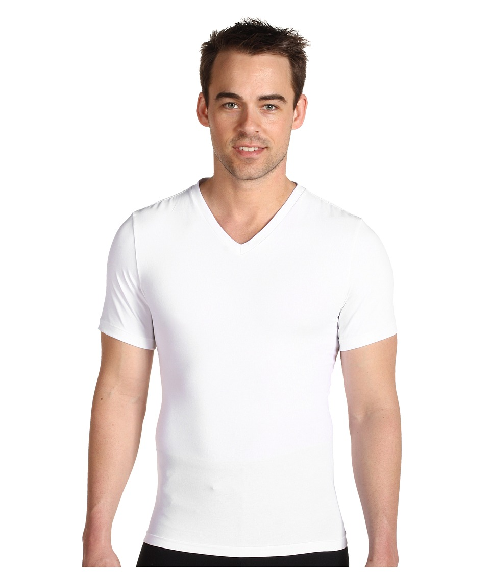 Spanx for Men Cotton Control V Neck White Mens Underwear