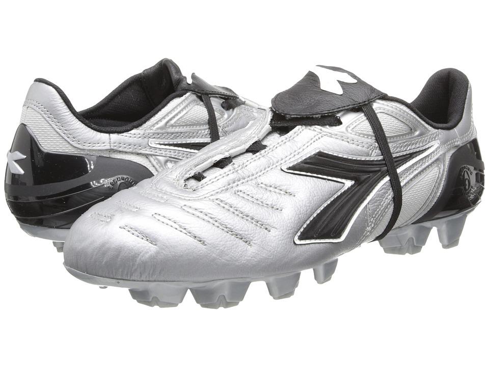 Diadora Maracana RTX 12 Silver/Black Mens Soccer Shoes