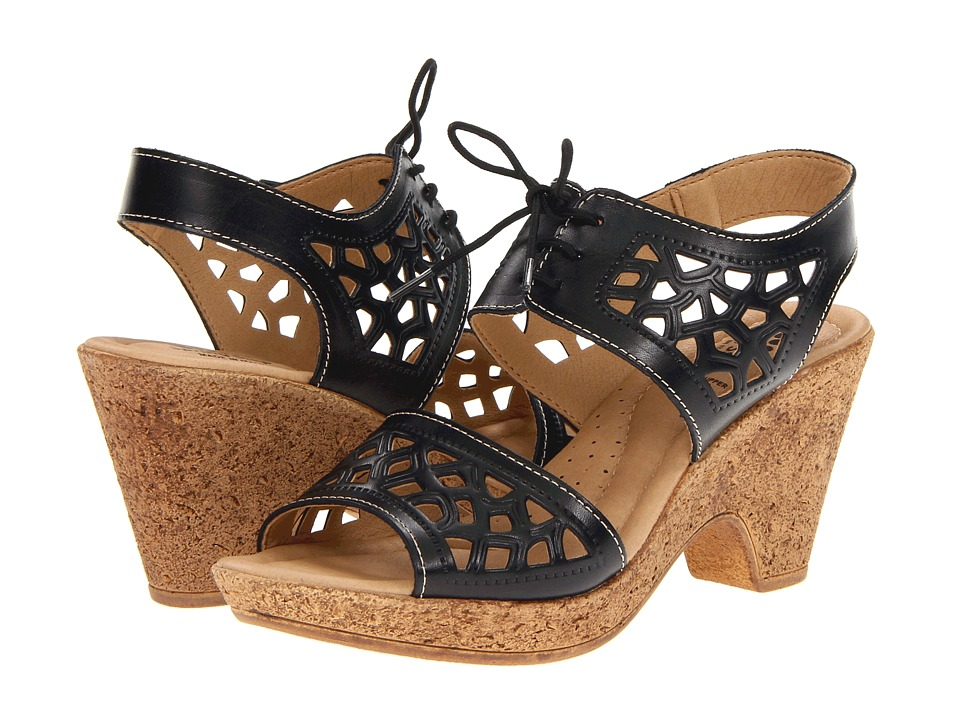 Spring Step Lamay (Black Leather) Women