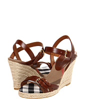 Burberry - Check Detail Espadrille Wedges