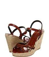 Burberry - Haymarket Leather Platform Espadrille Wedges