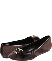 Burberry - Check Canvas Buckle Ballerinas