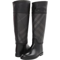 Burberry - Check Panel Rain Boots
