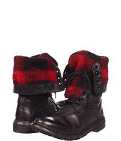 Burberry - Check Lined Leather Boots