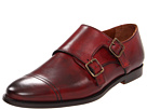 Burberry - Polished Leather Monk Shoes (Bright Chestnut) - Footwear