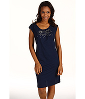 Jones New York - Scoop Neck Dress With Metal Sequins