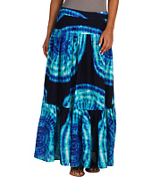 Jones New York - Pleated Printed Tye Dye Maxi Skirt