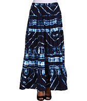 Jones New York - Tiered Broomstick Printed Stripe Tie Dye Skirt
