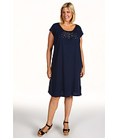 Jones New York - Plus Size Scoop Neck Dress w/ Metal Sequins