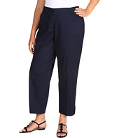 Jones New York - Plus Size Crop Slim Leg Pant w/ Button Cuff