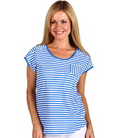 Jones New York - Petite Extended Shoulder Scoop Neck w/ Pocket